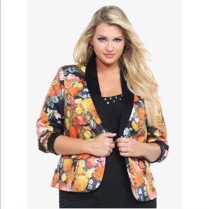 Torrid Floral Blazer Size 2X